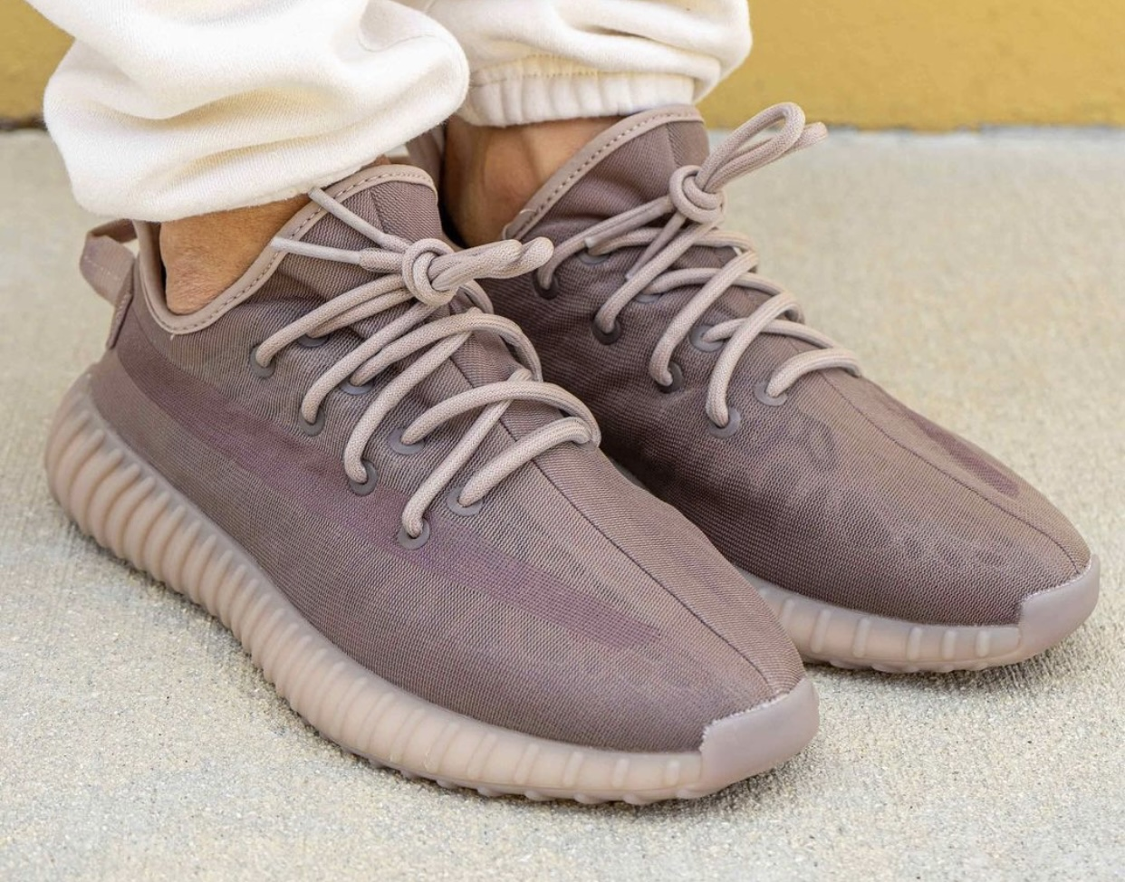 adidas Yeezy Boost 350 V2 Mono Mist On-Feet