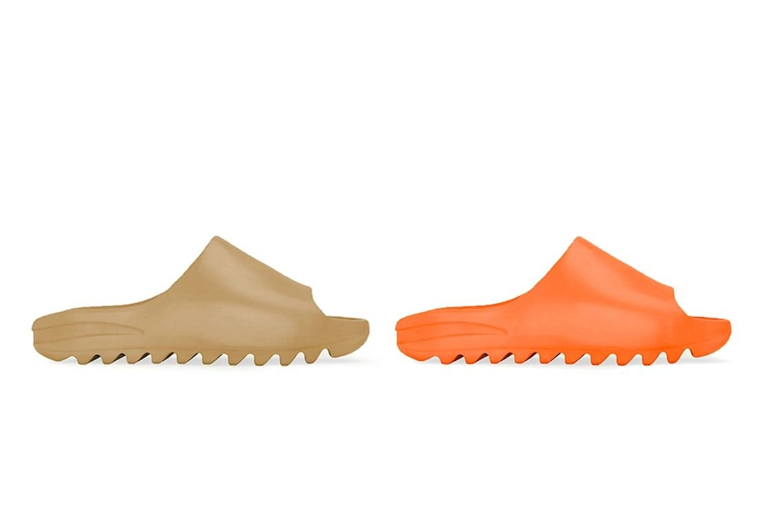adidas Yeezy Slide Releasing in 'Enflame Orange' and 'Pure'