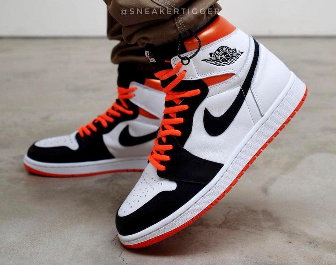 Air Jordan 1 Electro Orange On-Feet 555088-180