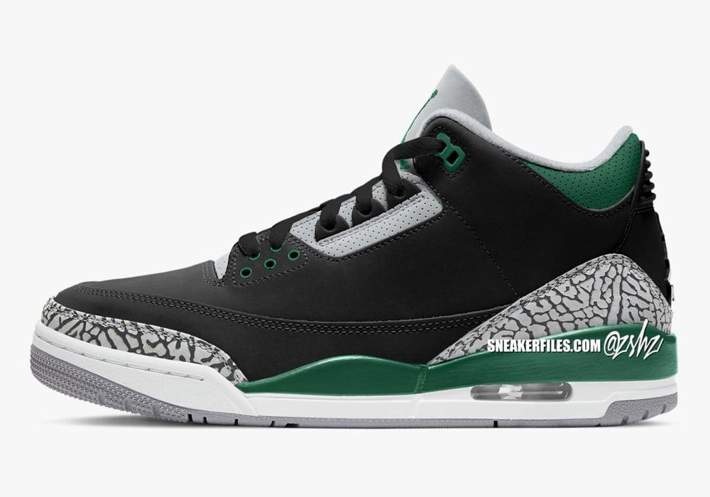 Air Jordan 3 Pine Green Celtics CT8532-030 Release Date