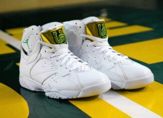 Air Jordan 7 Oregon Ducks Womens PE 2021