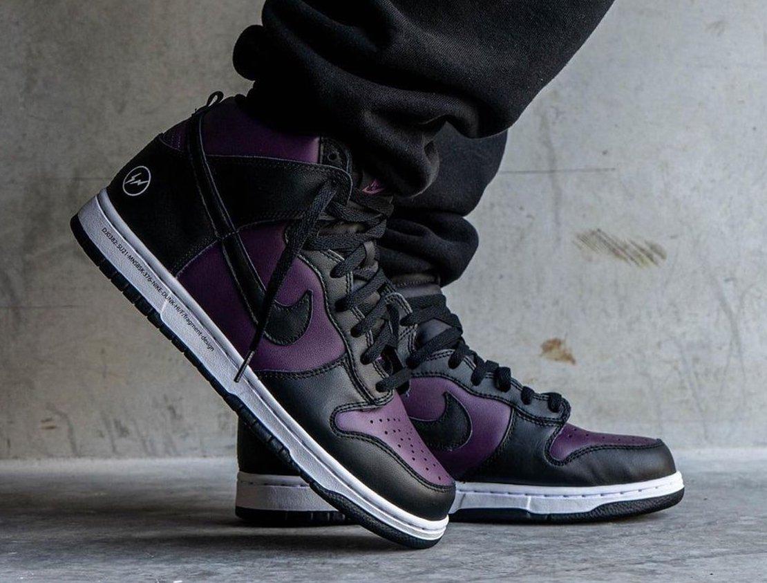 Fragment Nike Dunk High Beijing DJ0382-600 On-Feet