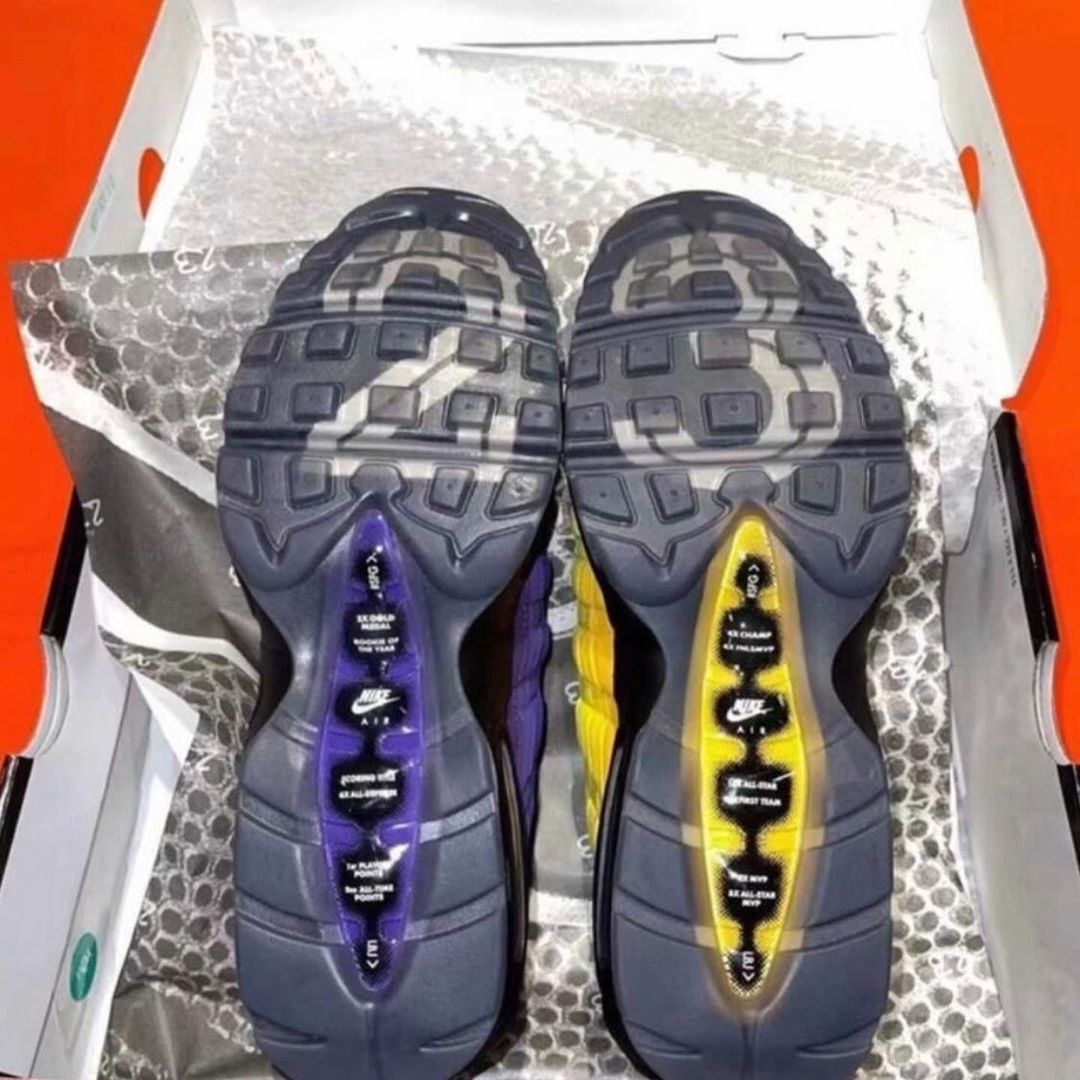 LeBron James Nike Air Max 95 Lakers CZ3624-001 Release Date Info