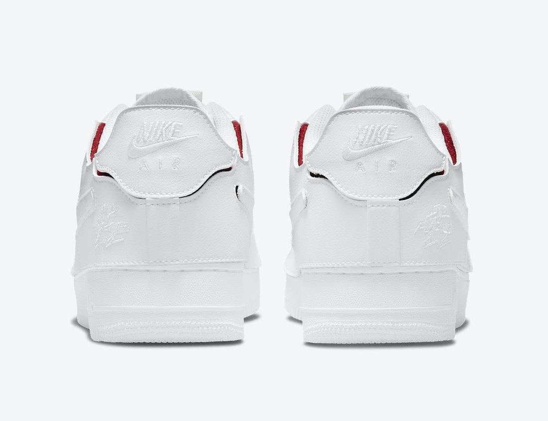 Nike Air Force 1/1 White Red DC9895-100 Release Date Info