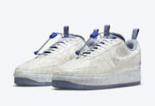Nike Air Force 1 Experimental USPS White Ghost Ashen Slate Game Royal CZ1528-100 Release Date Info