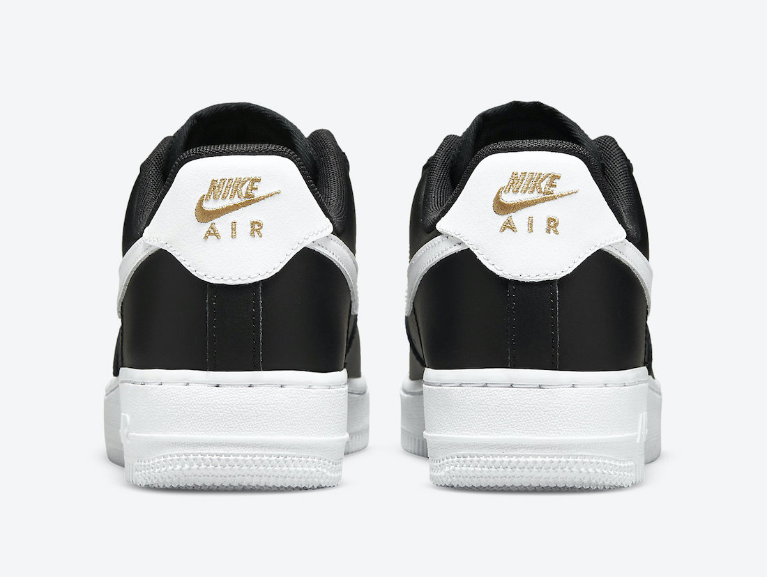 Nike Air Force 1 Low Black Gold White CZ0270-001 Release Date Info