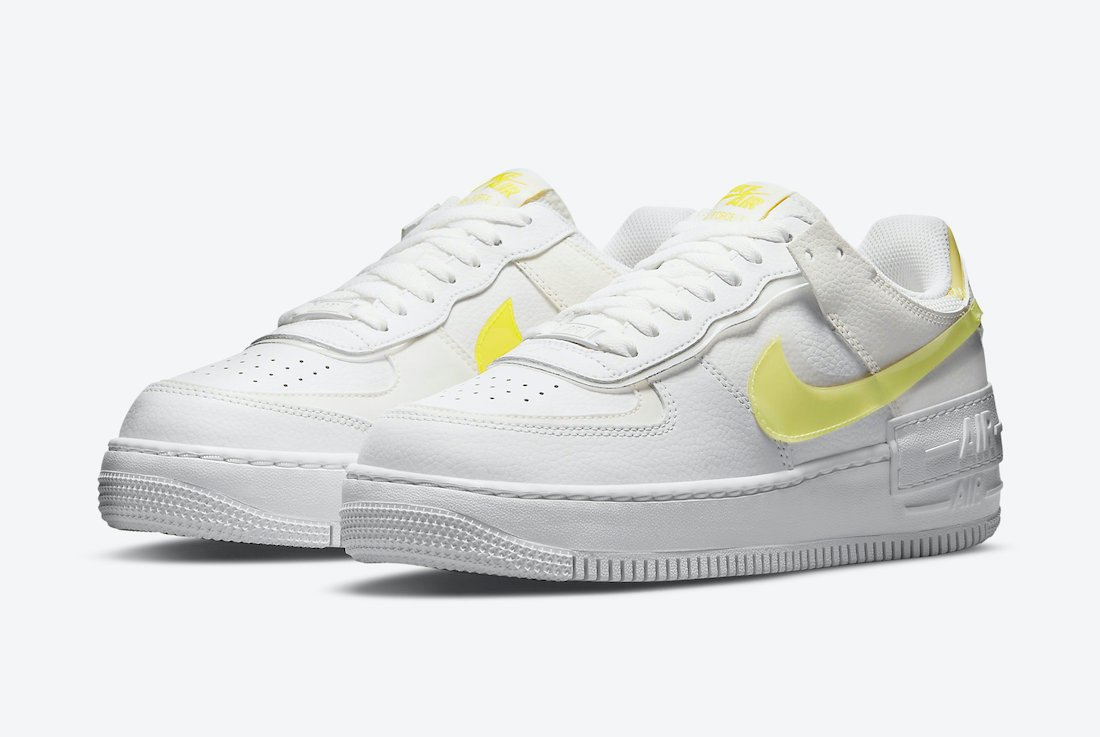 Nike Air Force 1 Shadow White Yellow DM3034-100 Release Date Info