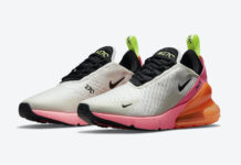 Nike Air Max 270 Cream Black Pink Volt Orange DJ5997-100 Release Date Info