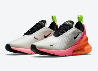 Nike Air Max 270 Cream Black Pink Volt Orange DJ5997-100 Release Date Info