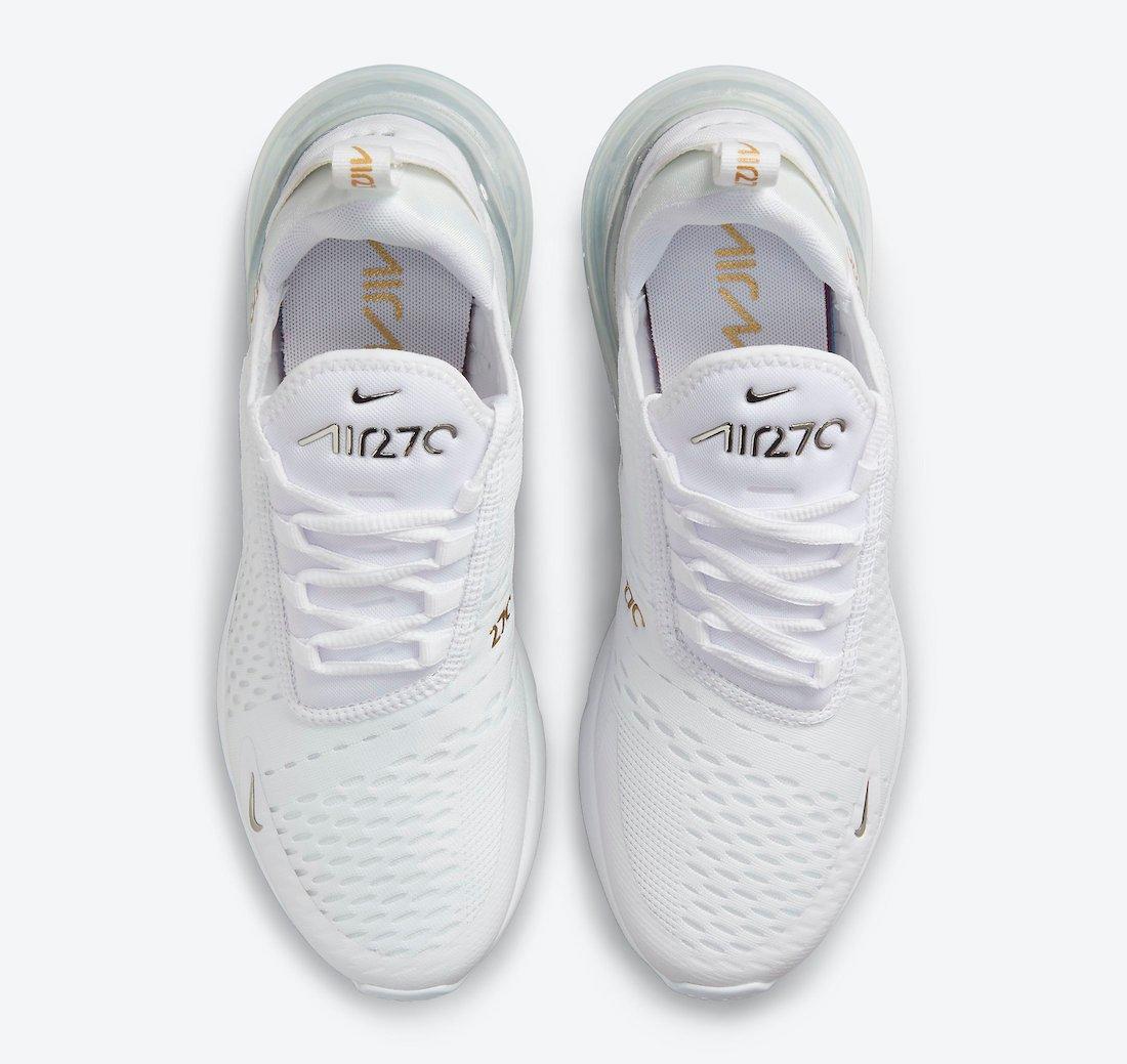 Nike Air Max 270 White Metallic Silver Gold DJ5136-001 Release Date Info