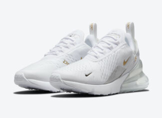 Nike Air Max 270 White Metallic Silver Gold DJ5136-001 Release Date Info