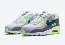 Nike Air Max 90 Aquamarine Lime Glow DJ6897-100 Release Date Info
