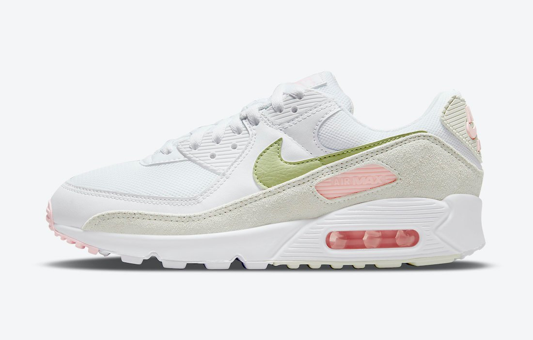 Nike Air Max 90 White Olive Pink DM2874-100 Release Date Info
