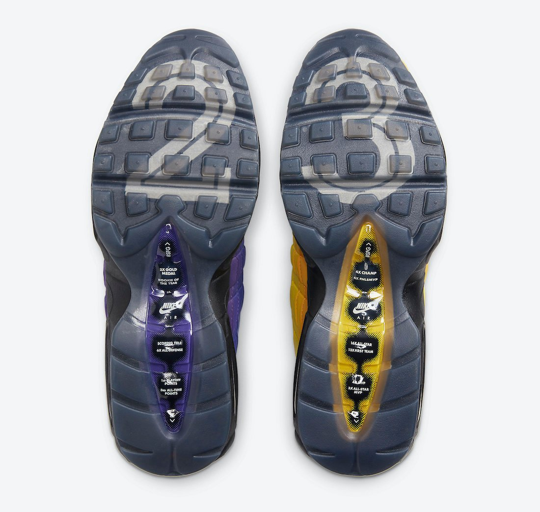 Nike Air Max 95 LeBron Lakers CZ3624-001 Release Date Info