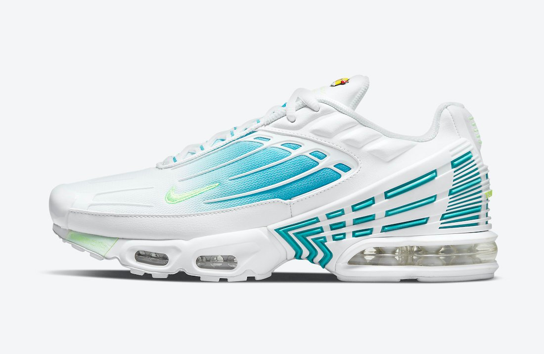 Nike Air Max Plus 3 White Blue Volt DM2835-100 Release Date Info