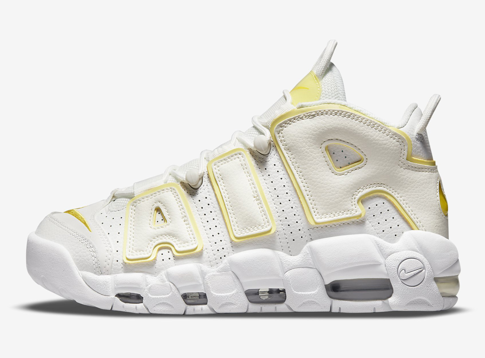 Nike Air More Uptempo White Yellow DM3035-100 Release Date Info