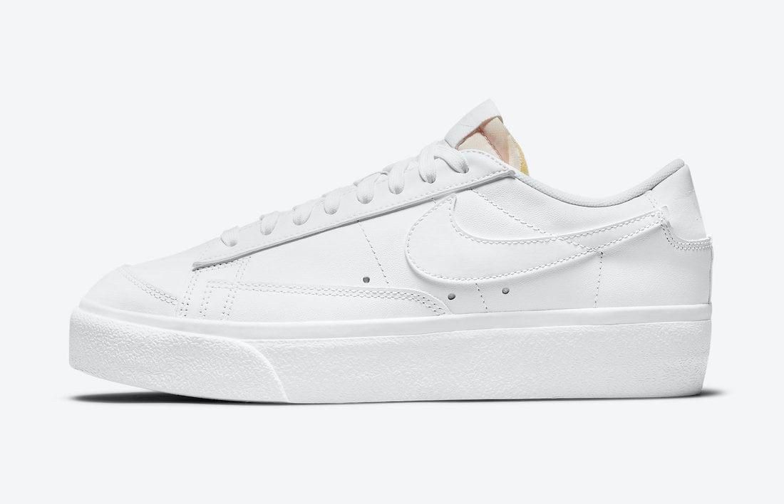 Nike Blazer Low Platform Triple White DJ0292-100 Release Date Info
