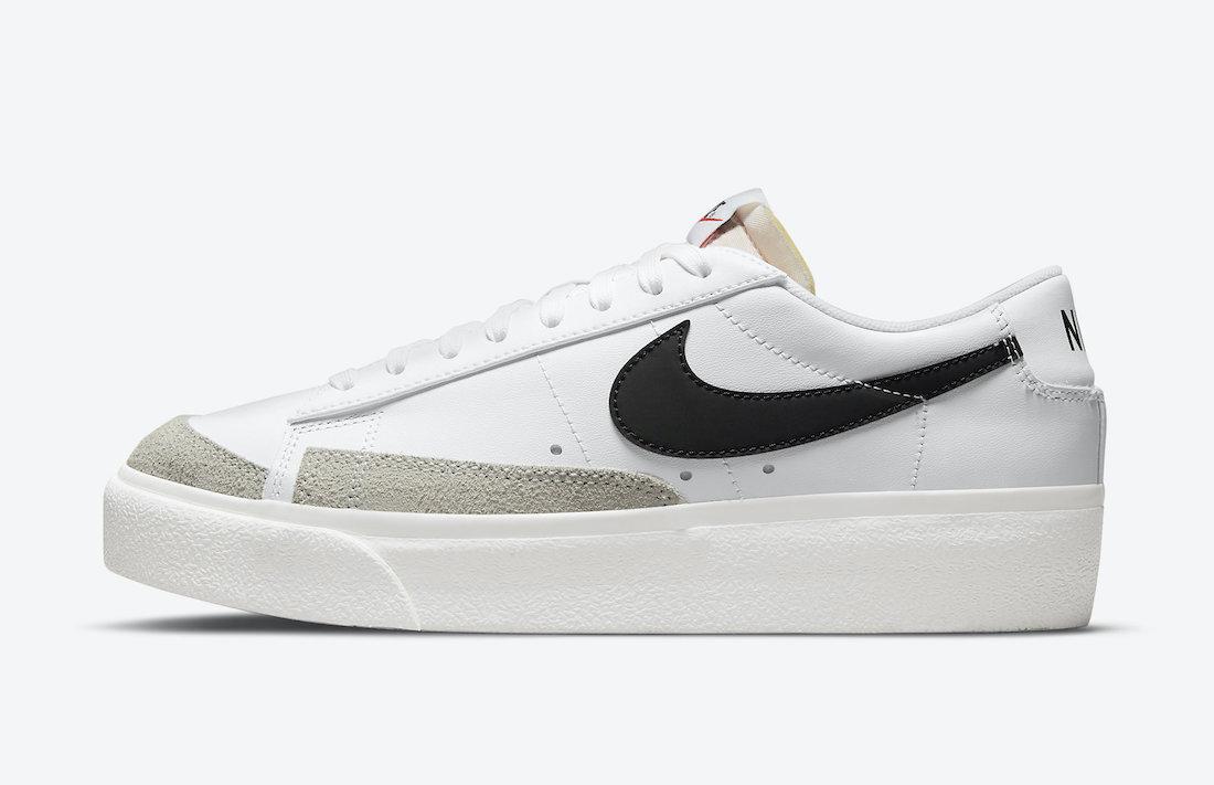 Nike Blazer Low Platform White Black DJ0292-101 Release Date Info