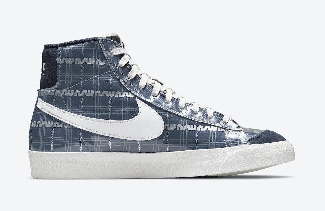 Nike Blazer Mid Midnight Navy Smoke Grey DJ4654-410 Release Date Info