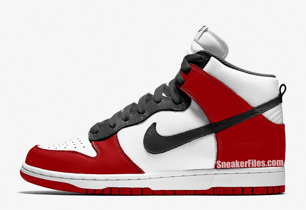 Nike Dunk High Bulls White Black University Red DD1399-103 Release Date Info