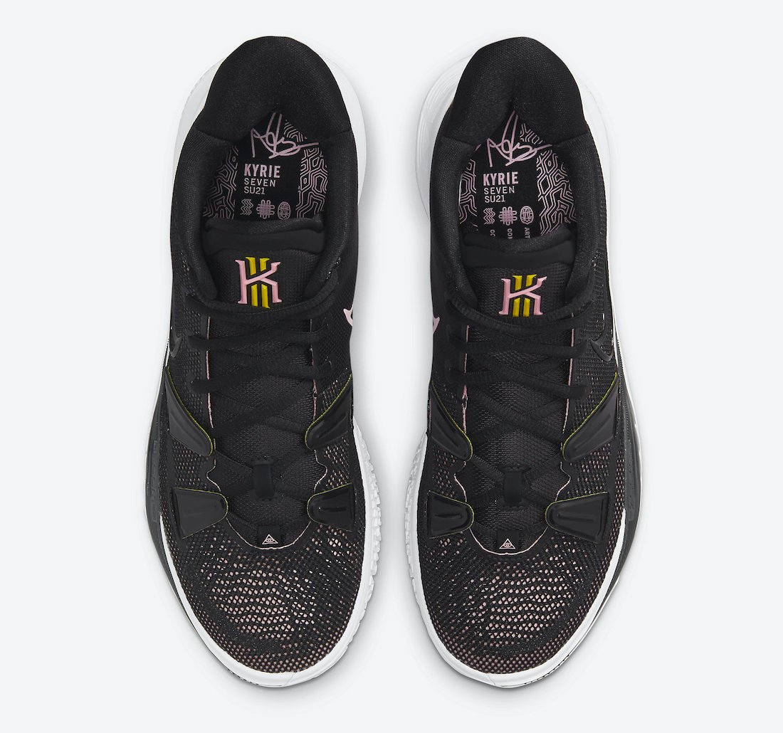 Nike Kyrie 7 Black Pink Yellow CQ9326-005 Release Date Info