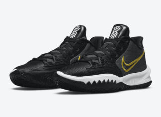Nike Kyrie Low 4 Black White Yellow CZ0105-001 Release Date Info