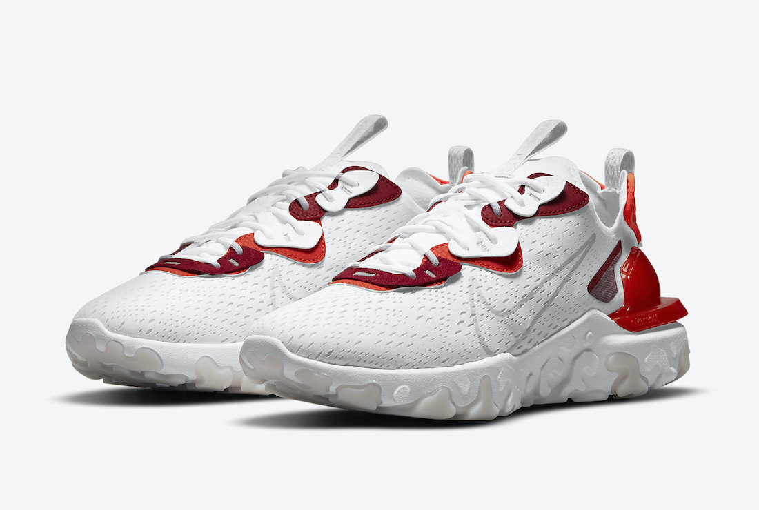Nike React Vision White Smoke Grey Team Red DM2828-100 Release Date Info