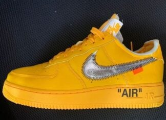 Off-White Nike Air Force 1 University Gold Release Info Price