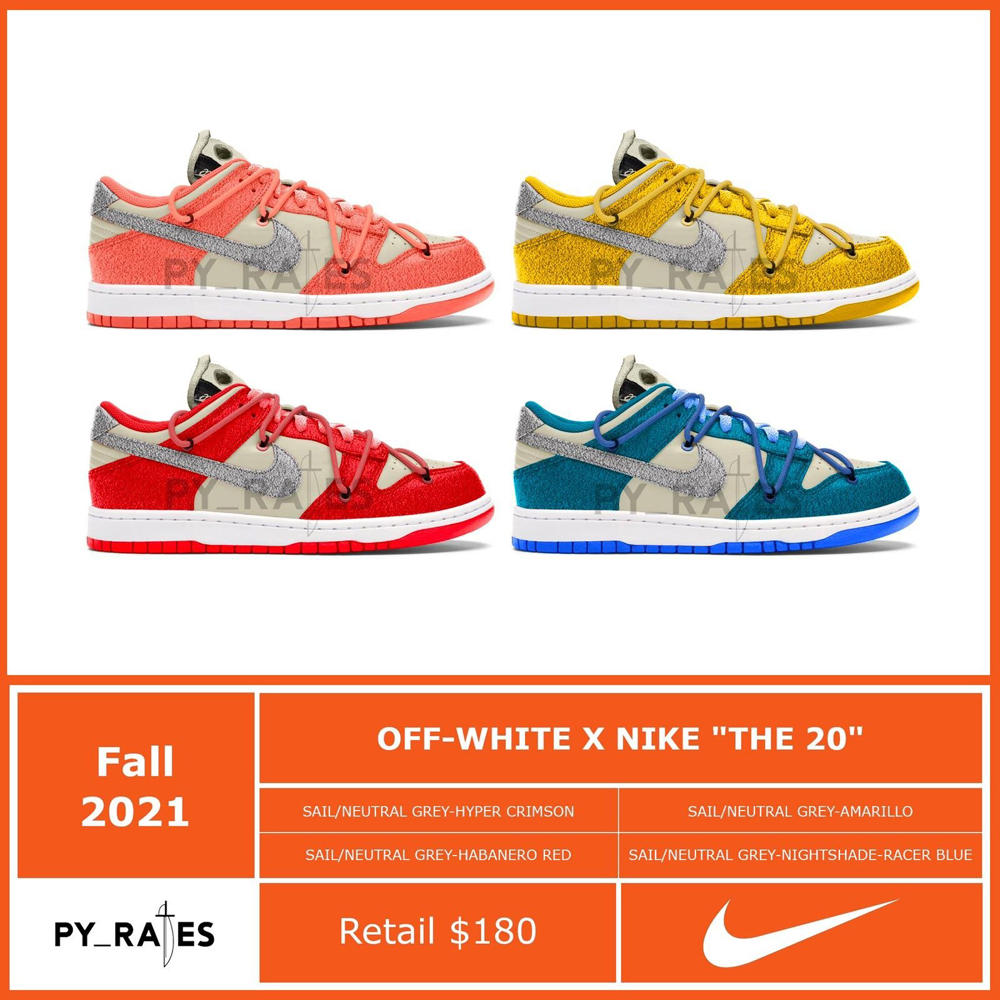 Off-White Nike Dunk Low The Twenty Release Date Info