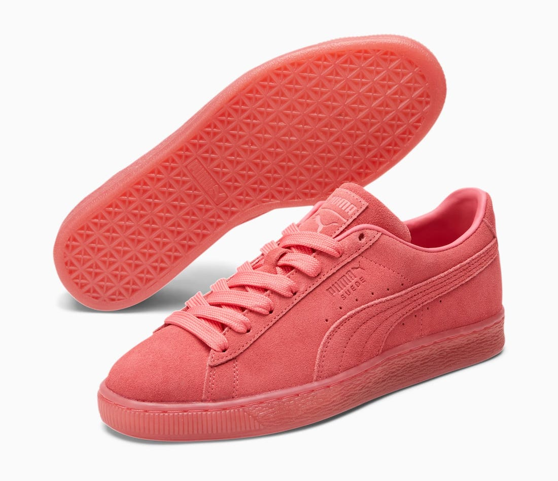 Puma Suede Classic Mono Iced Sun Kissed Coral Release Date Info
