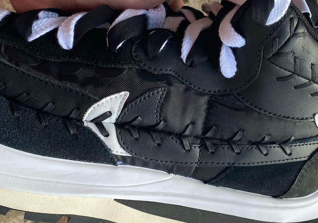 Sacai Jean Paul Gaultier Nike VaporWaffle Black DH9186-001 Release Date