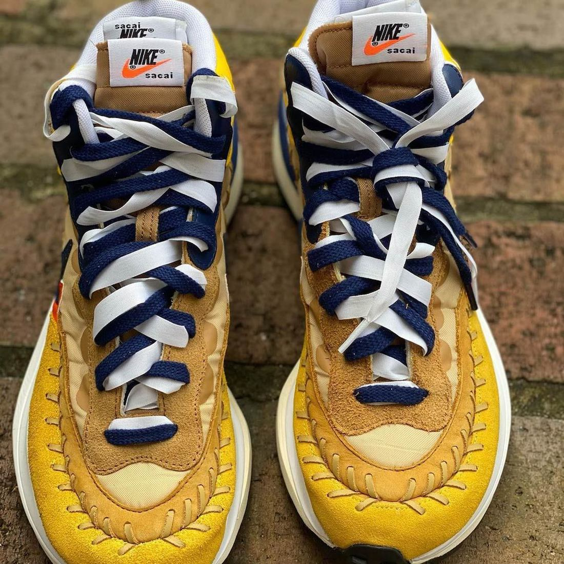 Sacai Jean Paul Gaultier Nike VaporWaffle Sesame DH9186-200 Release Date