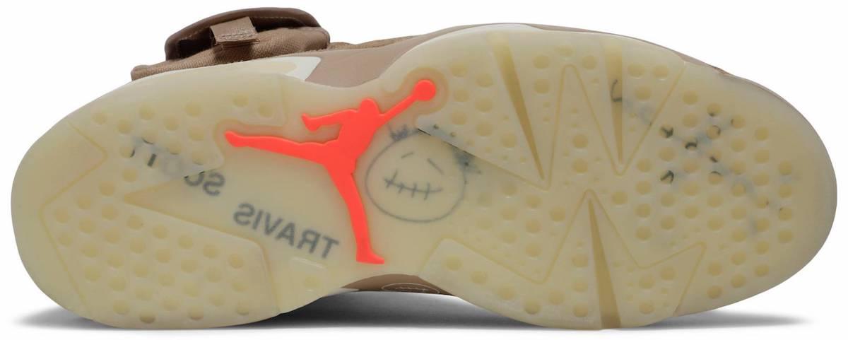 Travis Scott Air Jordan 6 British Khaki DH0690-200 Outsole