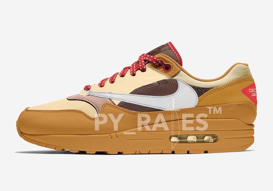 Travis Scott Nike Air Max 1 Wheat Lemon Drop Baroque Brown Chile Red Release Date Info