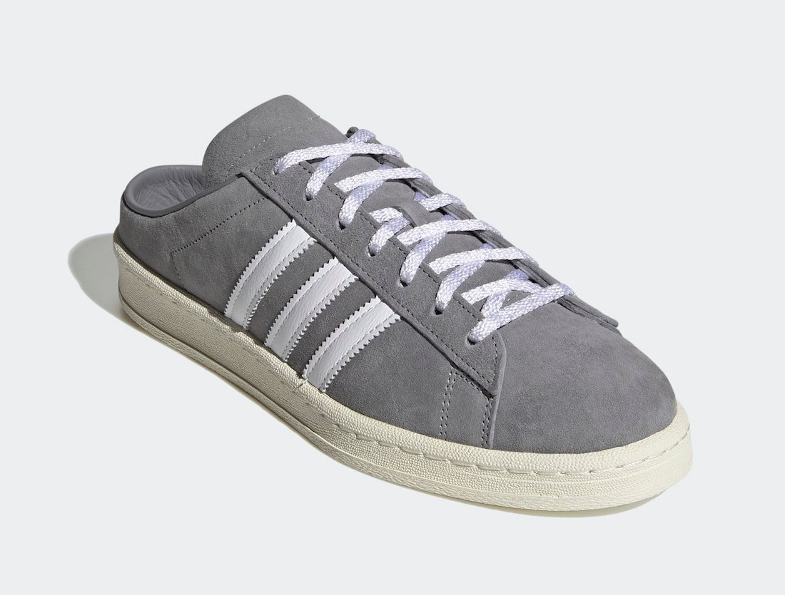 adidas Campus 80s Mules Grey FX5841 Release Date Info