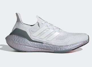 adidas Ultra Boost 2021 Crystal White Hazy Green FY0383 Release Date Info