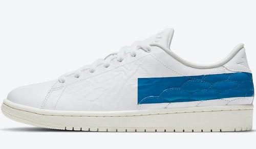 Air Jordan 1 Centre Court White Military Blue Sail Release Date