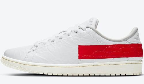 Air Jordan 1 Centre Court White University Red Sail Release Date
