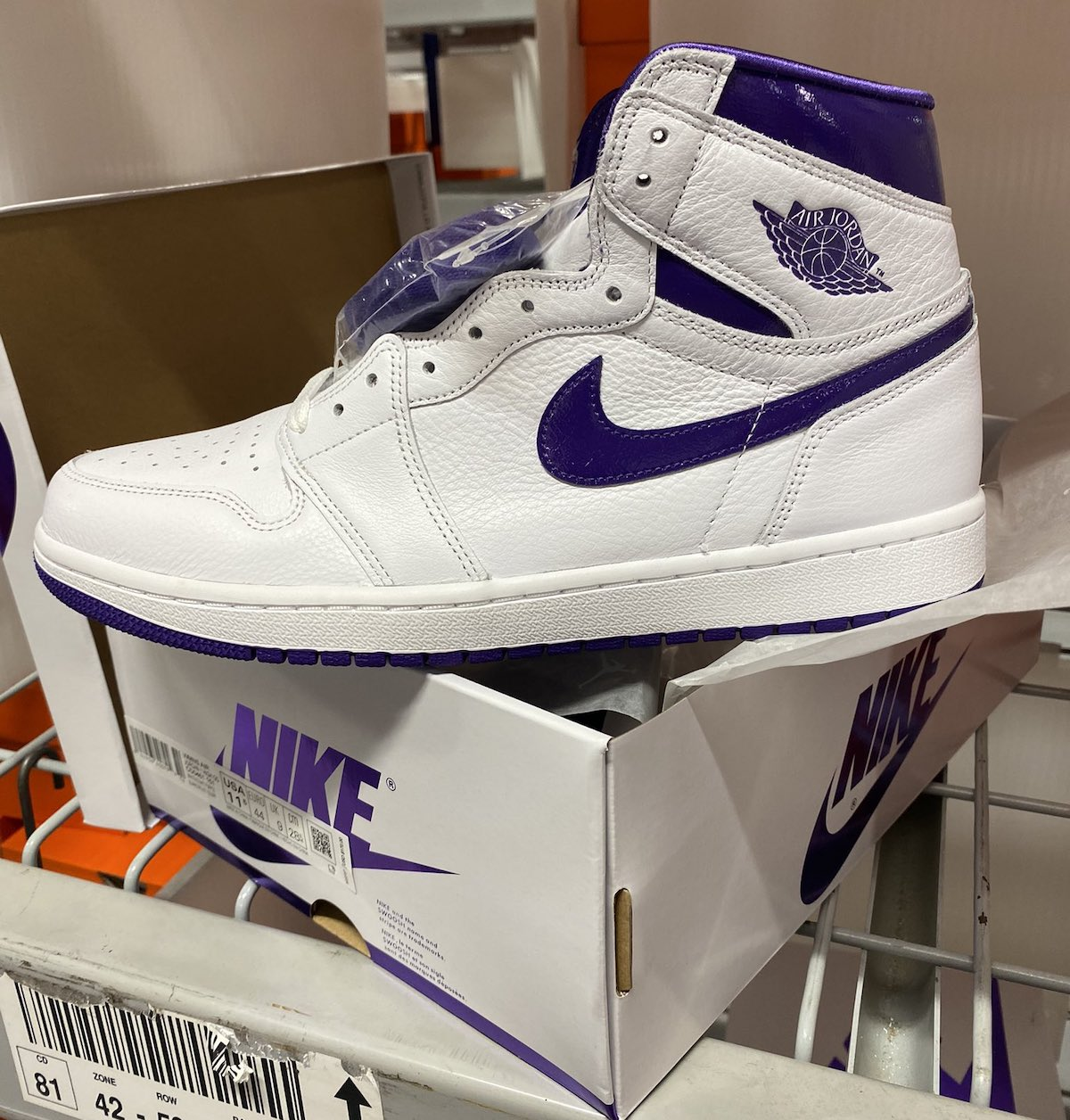 Air Jordan 1 Court Purple Release Date CD0461-151 Lateral Side