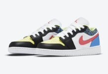 Air Jordan 1 Low GS Black Light Fusion Red White Coast DH5927-006 Release Date Info