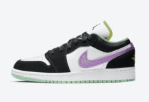 Air Jordan 1 Low GS White Black Green Glow 553560-151 Release Date Info