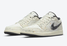 Air Jordan 1 Low Paint Splatter Brushstroke Swoosh DM3528-100 Release Date Info