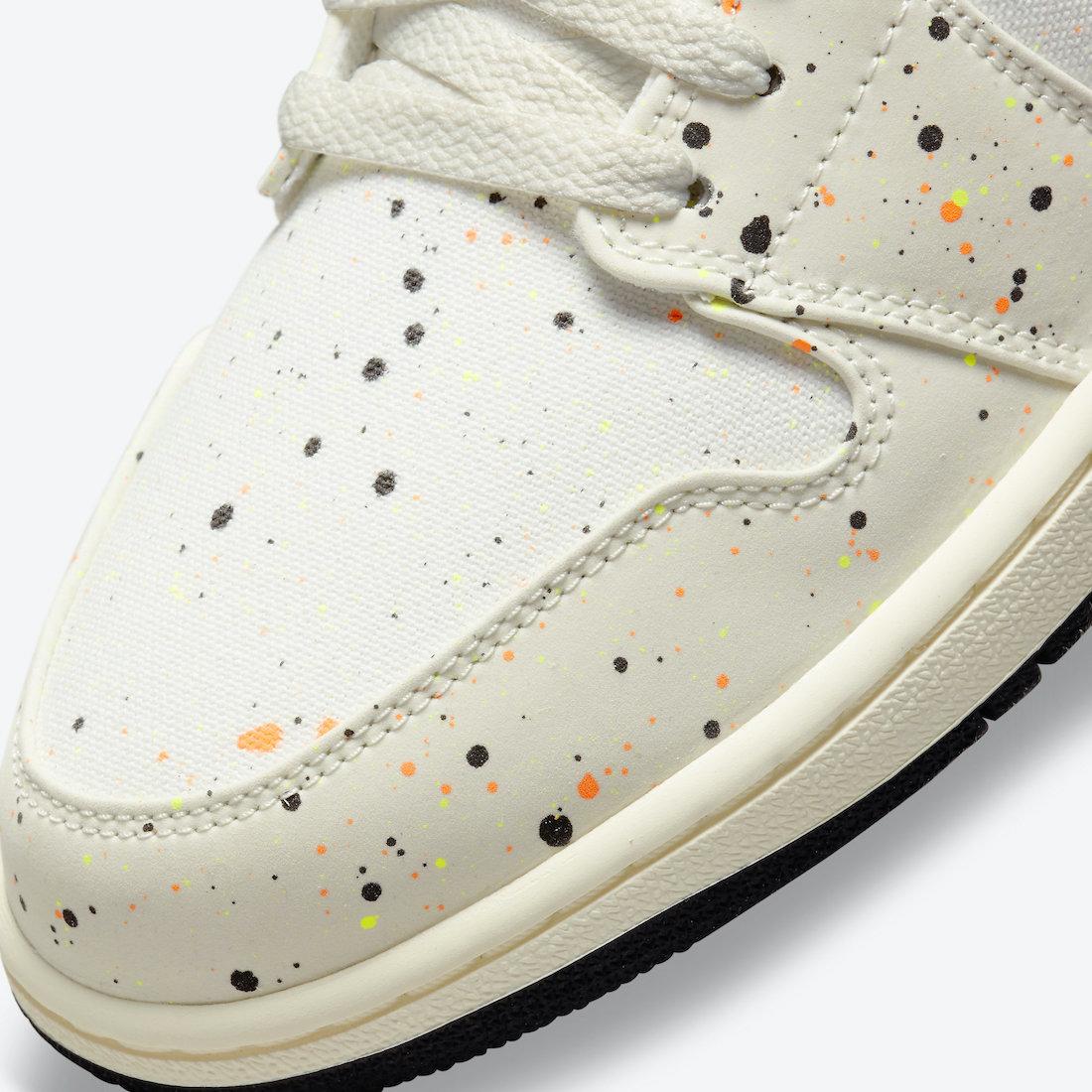 Air Jordan 1 Low Paint Splatter Brushstroke Swoosh DM3528-100 Release Date Info