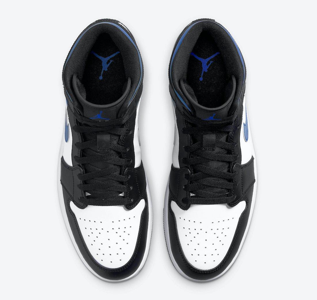 Air Jordan 1 Mid Black White Royal 554724-140 Release Date Info
