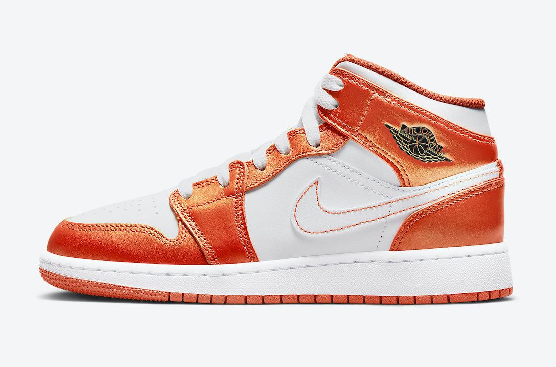 Air Jordan 1 Mid GS White Orange DM4228-800 Release Date Info