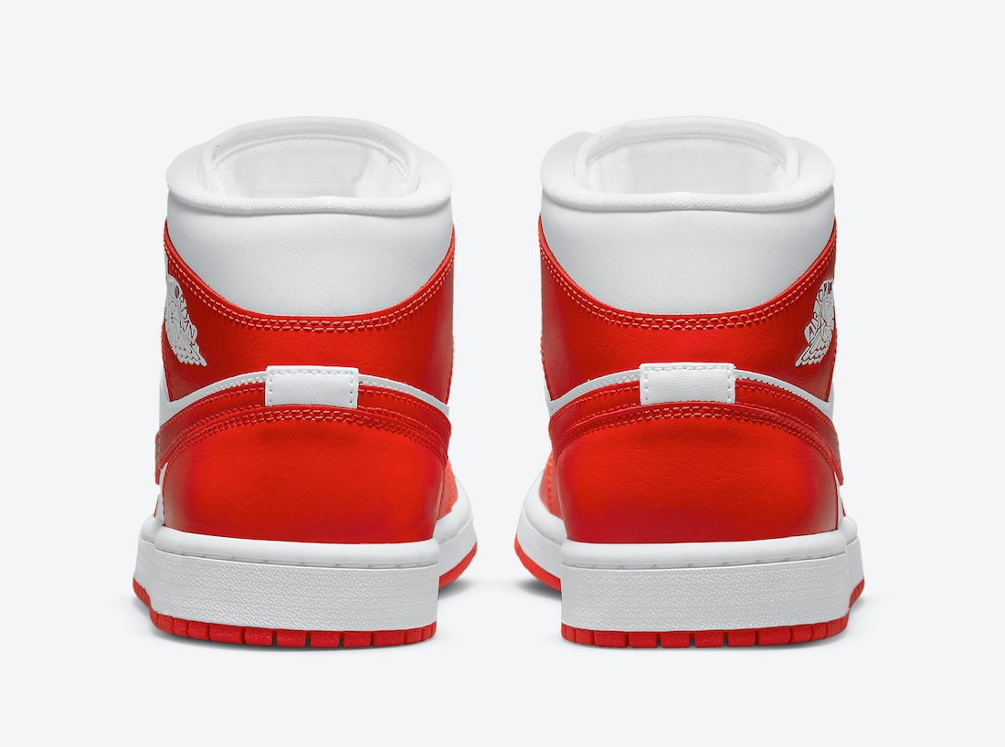 Air Jordan 1 Mid WMNS Orange White BQ6472-116 Release Date Info
