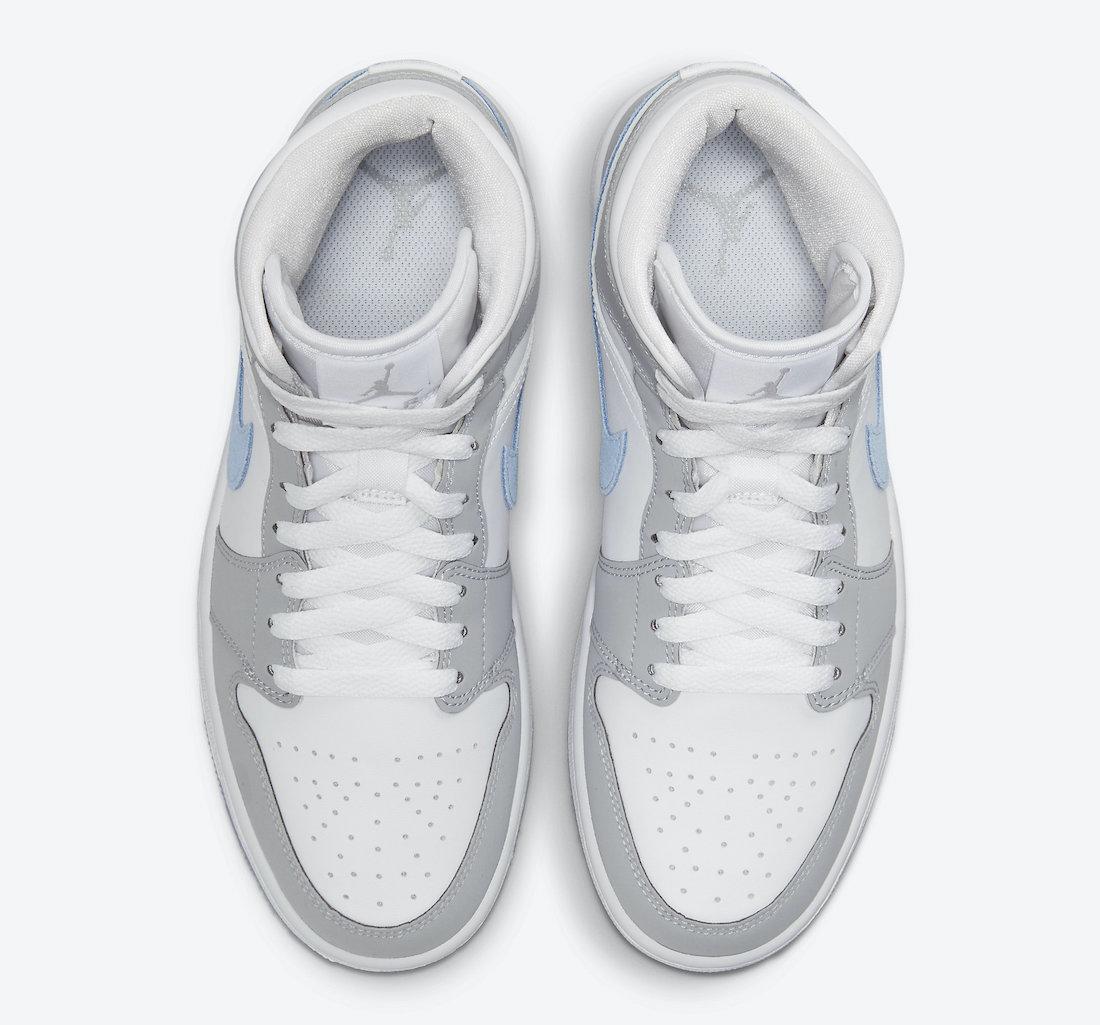 Air Jordan 1 Mid WMNS White Grey Blue BQ6472-105 Release Date Info