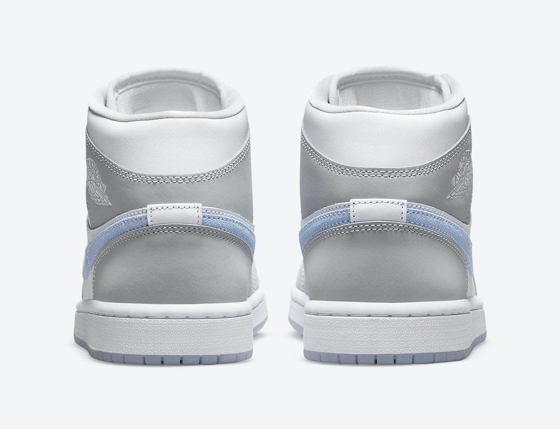 Air Jordan 1 Mid WMNS White Grey Blue BQ6472-105 Release Date Info    SneakerFiles