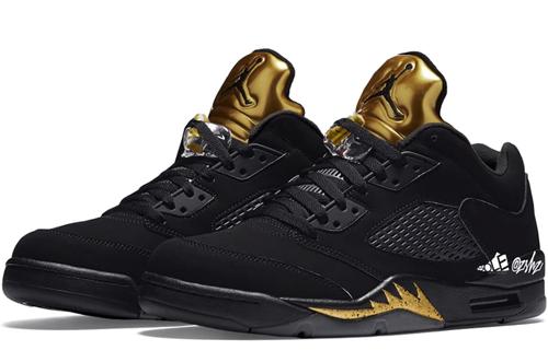 Air Jordan 5 Low Black Metallic Gold Release Date