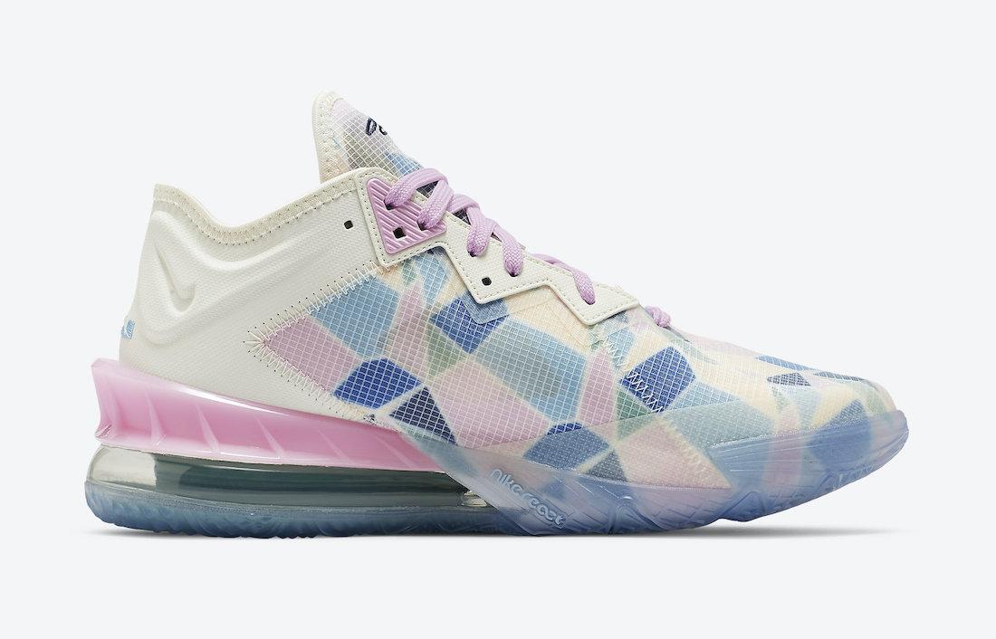 atmos Nike LeBron 18 Low Sakura Cherry Blossom CV7564-101 Release Date